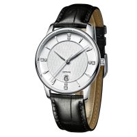 Classical Design Water Resistant Genuine Leather Watch Strap Simple Couple Quartz Watch