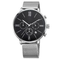 Stainless Steel Mesh Zinc Alloy Case Quartz Luxury Oem Mens Watch