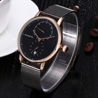 Business Alloy Watch Multifunction Quartz Men Wrist Watch With Waterproof