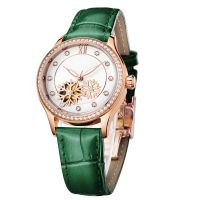 Casual Leather Watches Cheap Mechanical Watch Stainless Steel Watch For Women