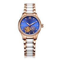 Watch Custom Fashion Mechanical Watch Stainless And Ceramics Watch Band 50M Water Resistant