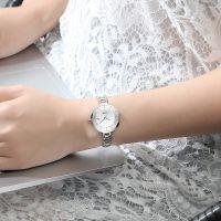 Custom Logo Watch Stainless Steel Fashion Nano Quartz Watch For Ladies