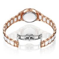 Casual Trendy Design Quartz Watch Ceramics Watch Strap 50M Waterproof