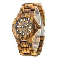 Custom Logo Japan Movt Wooden Gift Quartz Men Wooden Wristwatches