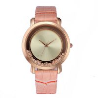 Fancy Minimalist Watch Custom Logo Leather Wrist Watch Straps Alloy Watches