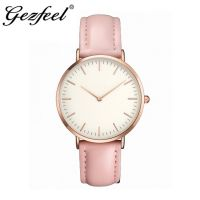 Hot Sale Cheap Alloy Watch Custom Leather Watch Dress Watch OEM China Watch Factory