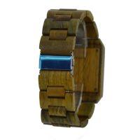 2019 Hot Sale Oem Big Dial Japan Movt Quartz Square Men Wood Wrist Watch