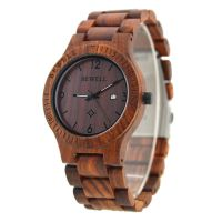New Model Bewell Bamboo Wrist Wood Watch for Mens