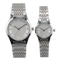 Ultra Thin Stainless Steel couple watch more time quartz watch