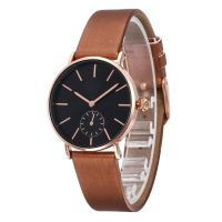 Wholesale Simple Fashion Quartz Watch PU Leather Watch Alloy Gift Watch