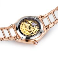 OEM Womans Wrist Watches Automatic Mechanical Wrist Watch Stainless Steel Watch
