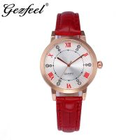 2019 Factory Wholesale Fashion Watch  With Bracelet Genuine Leather