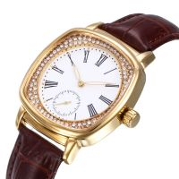 Best Sell Ladies Watches Custom Analog Alloy Watches With Genuine Leather Strap