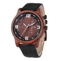 Custom Logo Superior Japan Movt with Day and Date Men Wooden Watch