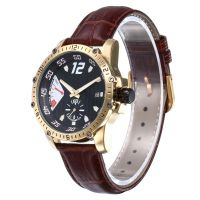 Luxury Charming Design Analog Quartz Movement Leather Wrist Watch For