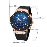 Famous brand watch Fashion Mens Luxury Silicone Band Quartz Sport Anal