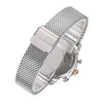 Stainless steel Japan movement Mesh strap custom fashion chronograph l