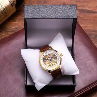 Fashion gold wrist watch automatic mechanical movement men's watch