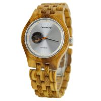 New Arrival Automatic Waterproof Mechanical Natural Rose Reloj de madera Wood Watch