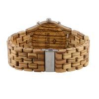 Online Shopping Custom New Design Top-Selling Private Label Wooden Male Chronograph Wooden Watches