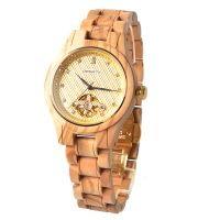 2019 New arrival fashion mechanical wood watch high quality automatic wood watches
