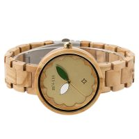 Fully skeleton luxury automatic mechanical wooden men watches