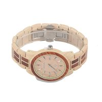 Custom promotional gift luxury chronograph waterproof wooden wrist watch
