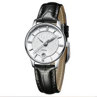 Classic Janpan Quartz Movement Stainless Steel Back Couple Watch with Your Logo