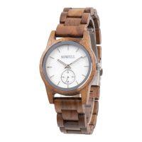 Custom private label sandalwood walnut teak shell dial unisex wooden watches
