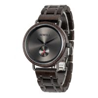 OEM stainless steel and wood private label wristwatches men watch
