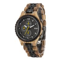 Wholesale luxury chronography watches custom logo wooden watches for men