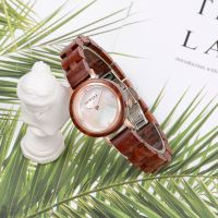 Shell Dial Wood Watch 3ATM Water Resistant Bamboo Wooden Watches for women