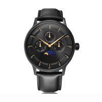 Luxury brand custom classic 6P00 quartz moonphase watches large dial chronograph watches