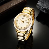 Custom automatic mechanical 8215 movement stainless steel real jadeite watch for couple