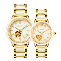 High end skeleton automatic mechanical jade watch for men and women