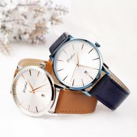 Custom fashion simple style stainless steel watch for men