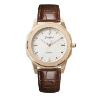 New Modle Fashion Stainless Steel Watch Genuine Leather Strap Minimalist Watch Men And Women