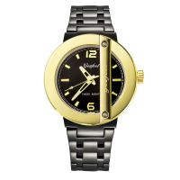 Custom Fashion Big Face Stainless Steel Watch Water Resistant For Men