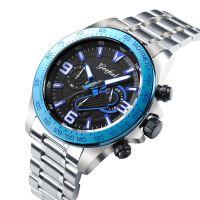 New Male Watch Trendy Stainless Steel Watch Multifunction Wrist Watch Men