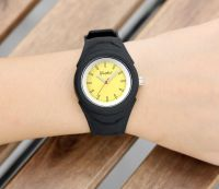 New Fashion Stainless Steel Watch With Janpan Movt Plastic Strap Wristwatch