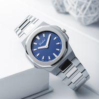 New Fashion Men Stainless Steel Quartz Wrist Watch Waterproof Male Watch