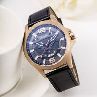 New Arrive Mens Watch Stainless Steel Watch Genuine Leather Strap Male Watches