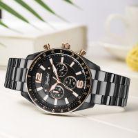 OEM Sporty Stainless Steel Chronograph Watch Japan Movement Men Wrist Watch