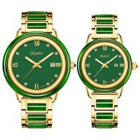 Luxury Natural Material Jasper Japan Movement Mechanical Watch for Decoration