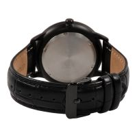 China Supply Black Plated Lastest Stainless Steel Japan Movement Cheap Watch