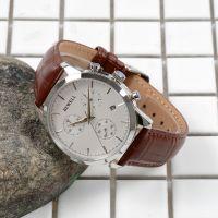 Custom Single Calendar Chronograph 3ATM Water Resistant Fashion Lady Men Watch