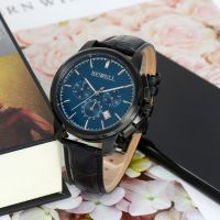 New Modle Hign End Black Plated Stainless Steel Quartz Watch For Men