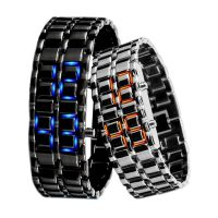 Custom Unisex Student Waterproof Electronic Binary LED Bracelet Couple Digital Watch As Gift