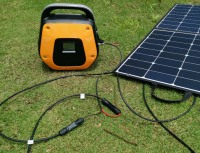 300W portable solar generator camping backup power emergency off grid solar system