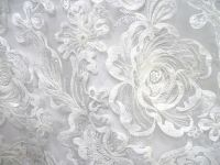 New Design hot sale Embroidered lace Fabric white bridal lace For Wedding gowns/bridal dress